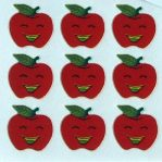 Smiling Apple Sticker Sheet