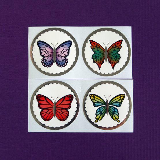 Foil Butterfly Stickers