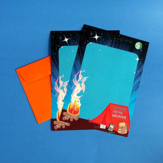 camping-writing-paper-envelopes