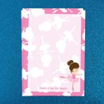 Dark Pink Ballerina Letter Writing Paper