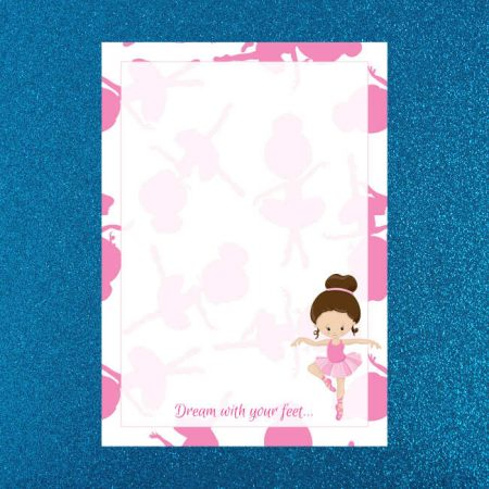 Light Ballerina Letter Writing Paper