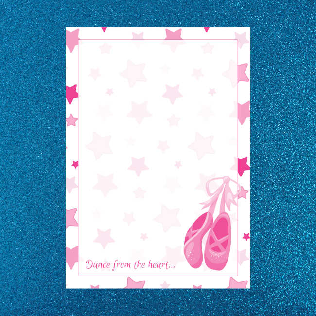 graphic regarding Printable Letter Paper referred to as Ballet Footwear Printable Letter Creating Paper