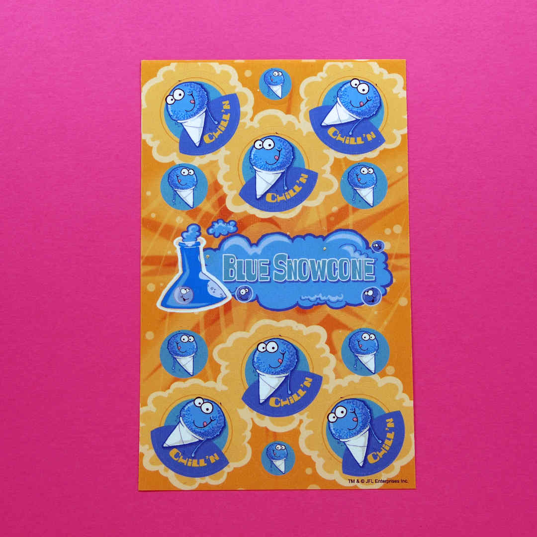 Blue Snow Cone Scratch n Sniff Stickers