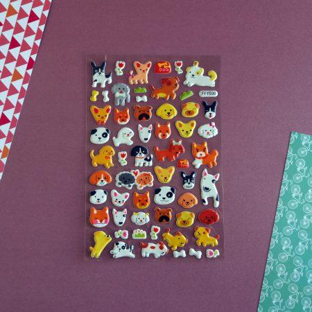 Puffy Puppy Dog Sticker Sheet