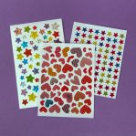 Stars and Heart Sticker Sheets