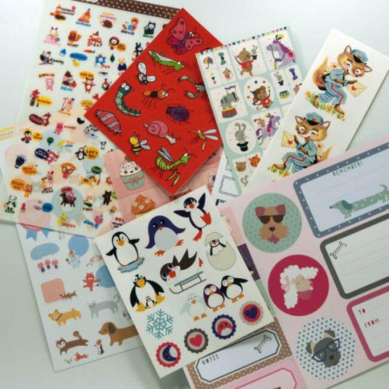 Large sticker sheet multi-pack