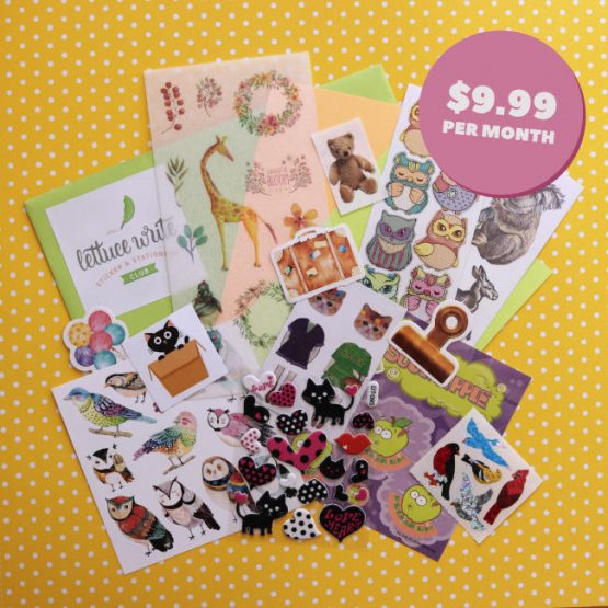 Monthly Sticker Subscription Box