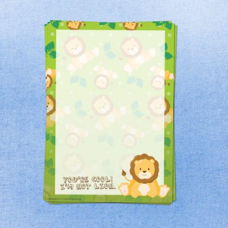 Lion Printed Letter Writing Paper