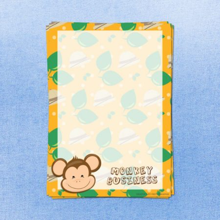 Monkey Letter Writing Paper
