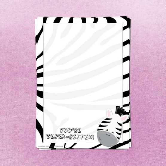 Zebra Letter Writing Set