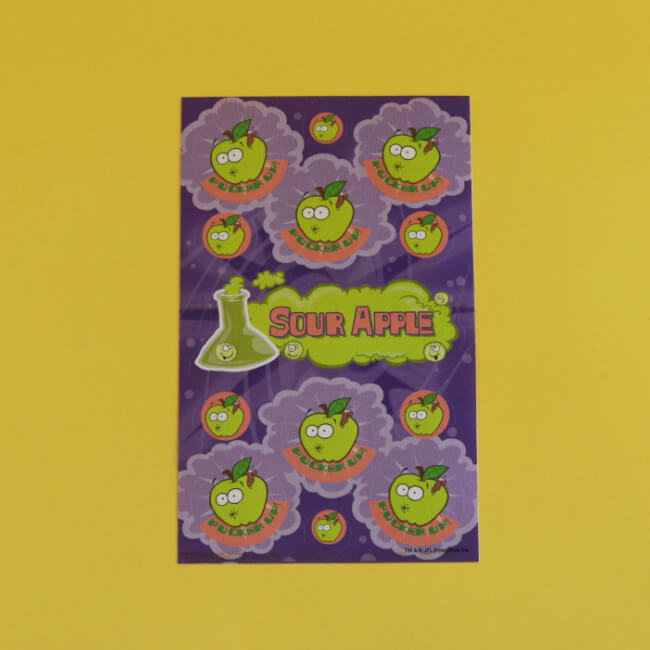 Sour Apple Scratch 'n' Sniff Stickers