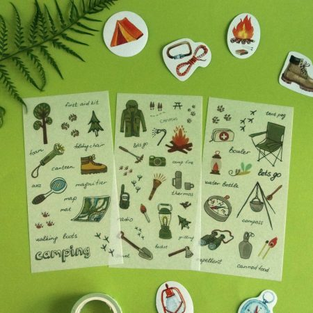 Camping Sticker Sheets