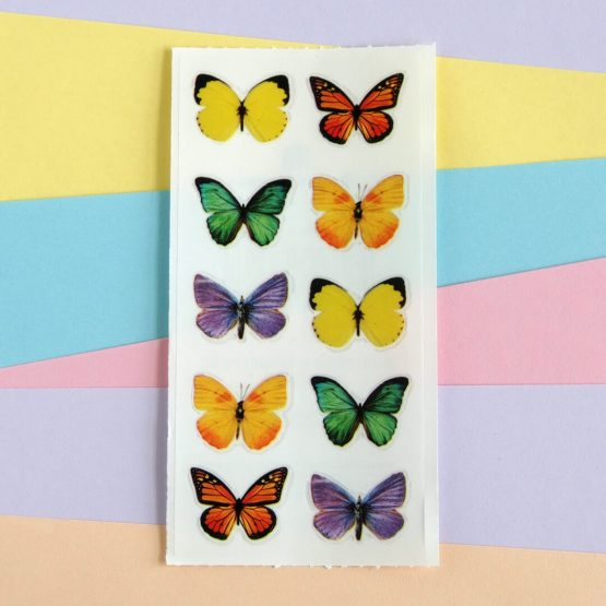Colourful Butterfly Sticker Sheet