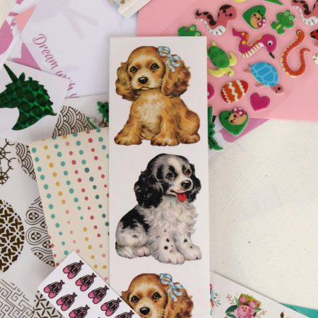 Cute Puppy Sticker Sheet