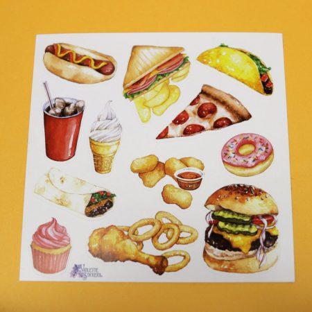 Fast Food Sticker Sheet