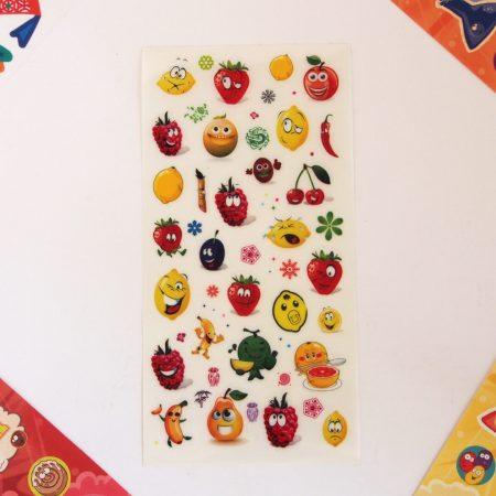 Fun Character Fruit Stickers