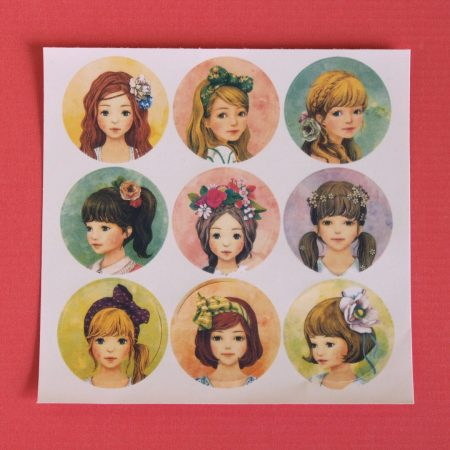 Pretty Girl Face Sticker Seals