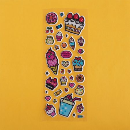 Puffy Cake & Dessert Sticker Sheet