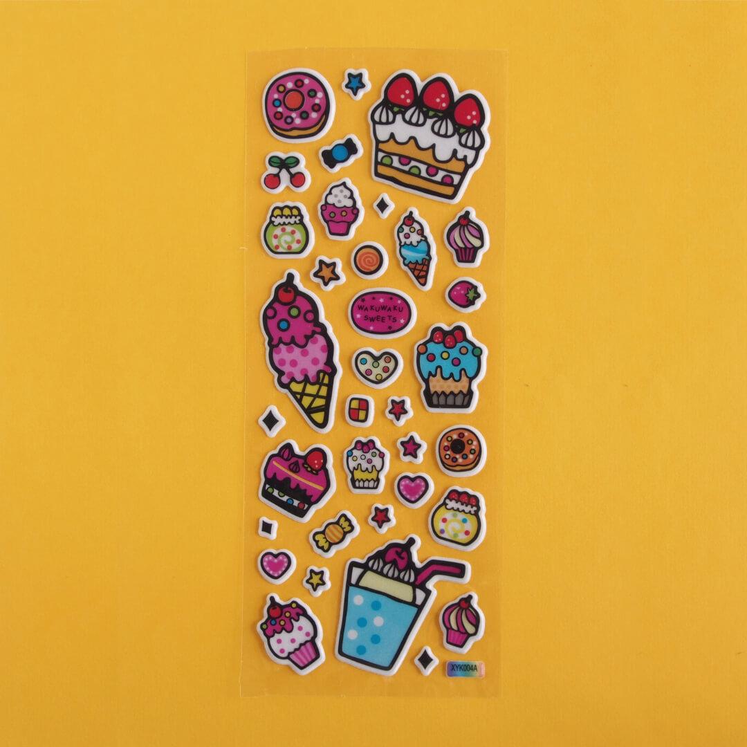 Puffy Cake & Dessert Sticker Sheet