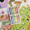 Rainbow Crayon Sticker Sheets