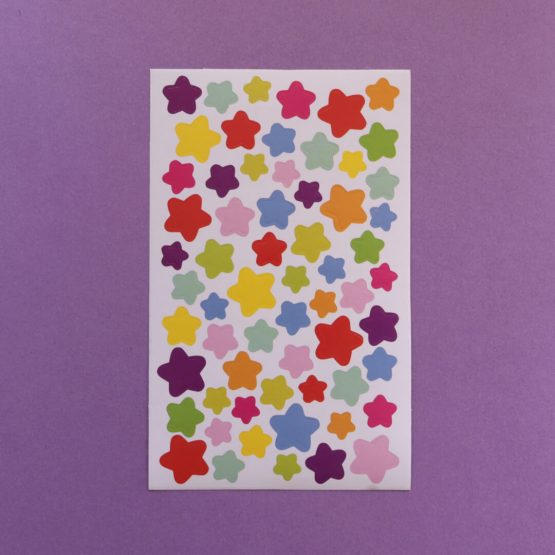 Rainbow Star Sticker Sheet