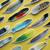 Watercolour Feather Bookmarks