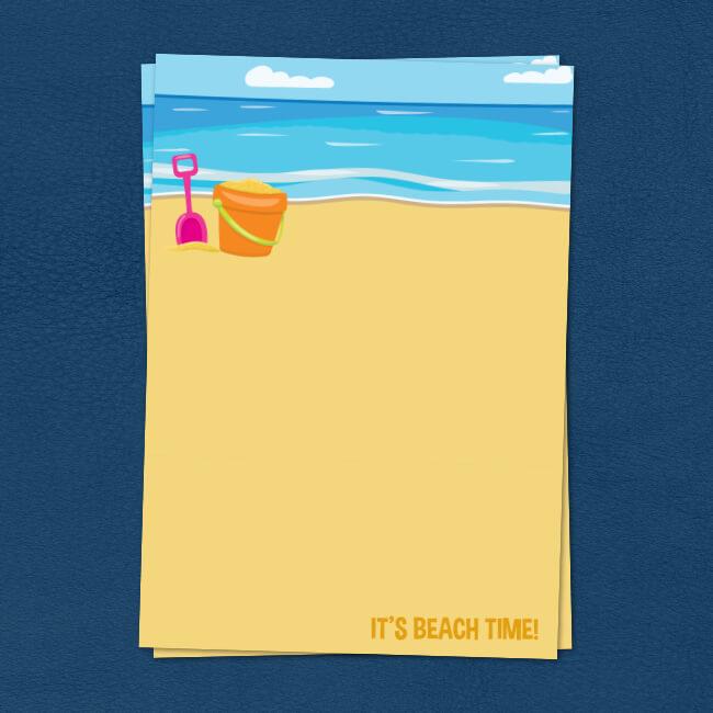 Beach Bucket & Spade Writing Paper