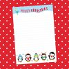 Christmas penguins writing paper