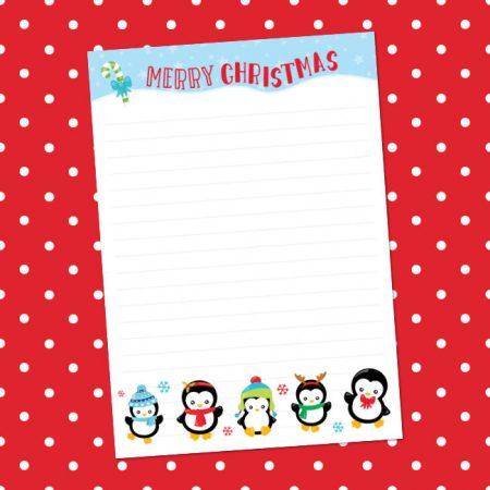 Christmas Penguin Set Letter Writing Set