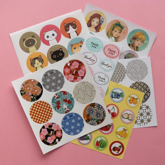 Coulourful Sticker Seal Pack - 6 Sheets