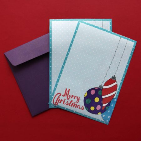 Christmas Baubles Letter Writing Set
