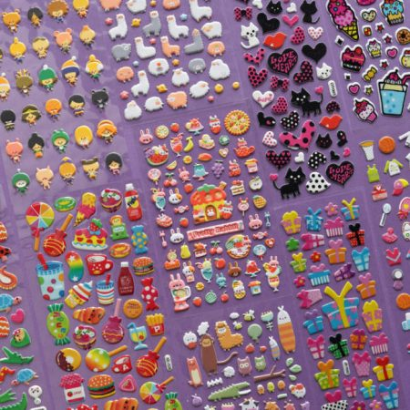 Puffy Sticker Pack Set 2 - 10 Sheets