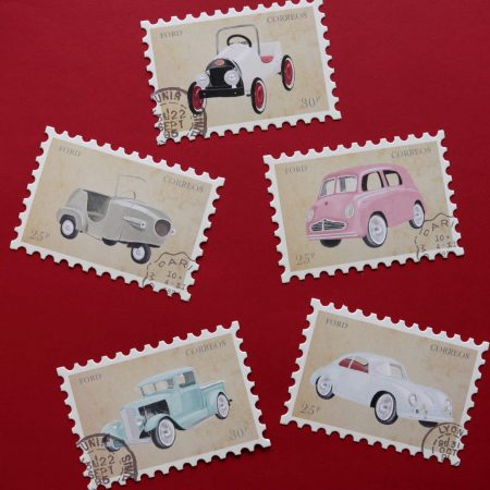 Vintage Car Postcard Variety Pack
