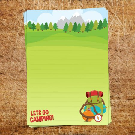 Lets Go Camping Letter Writing Paper