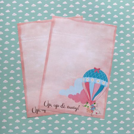 Hot Air Balloon Writing Paper