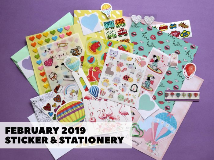 February Sticker & Stationery Subscription Box