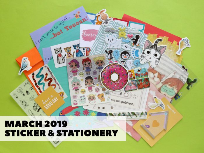March Sticker & Stationery Subscription Box