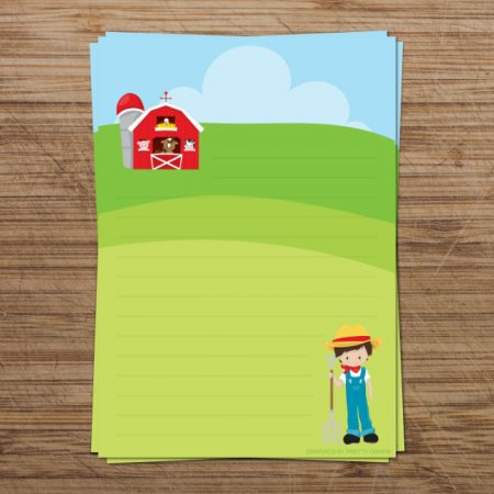 Farm Boy Digital Writing Paper