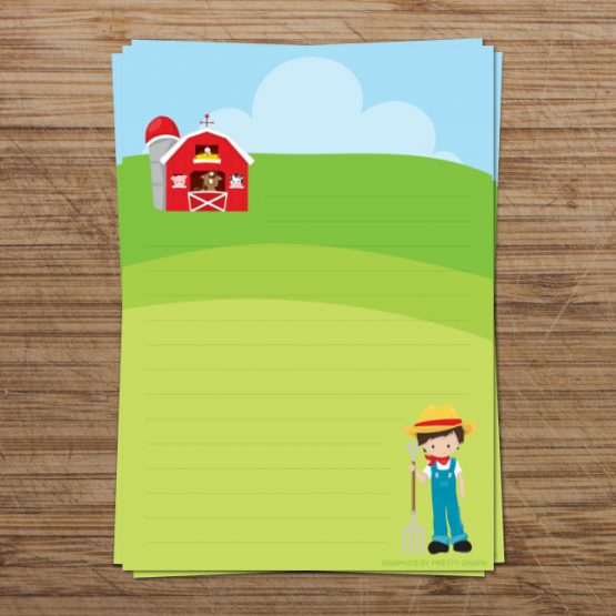 Farm Boy Digital Writing Paper