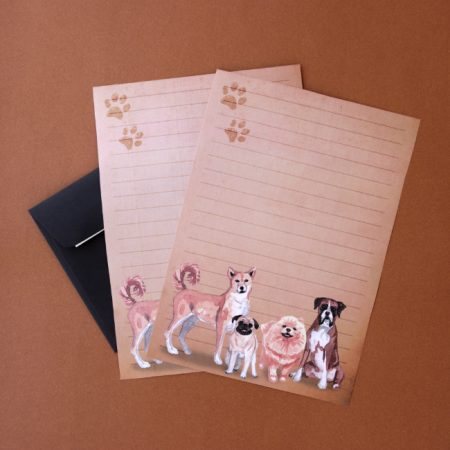 Watercolour Dogs Printable Letter Writing Paper