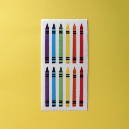 Rainbow Crayons Sticker Sheet