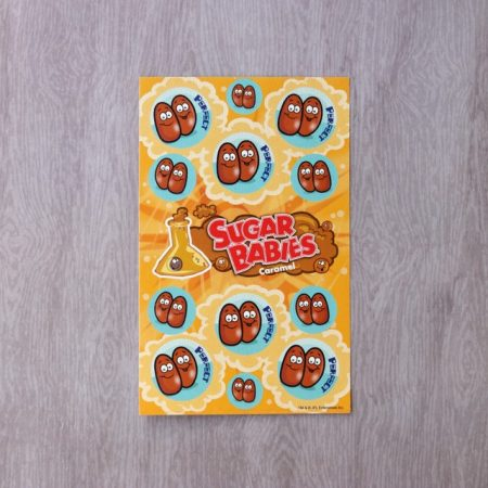 caramel sugar babies scratch and sniff stickers