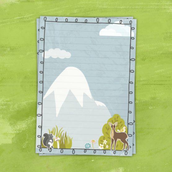 Woodland Animal Letter Writing Set