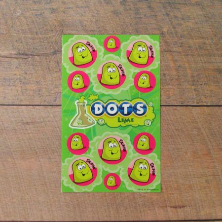 Dots lime scented scratch and sniff stickers