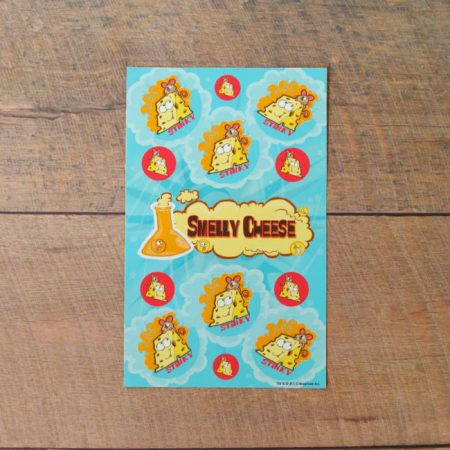 Smelly cheese scented scratch and sniff stickers